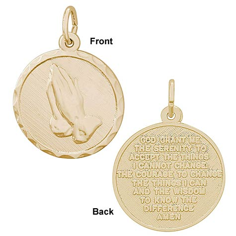 14k Gold Serenity Prayer Charm by Rembrandt Charms