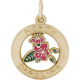 Gold Plated North Carolina Azalea Charm by Rembrandt Charms