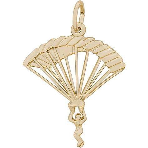 14K Gold Parachutist Charm by Rembrandt Charms