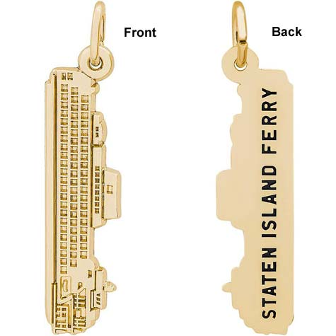 Gold Plate Staten Island Ferry Charm by Rembrandt Charms