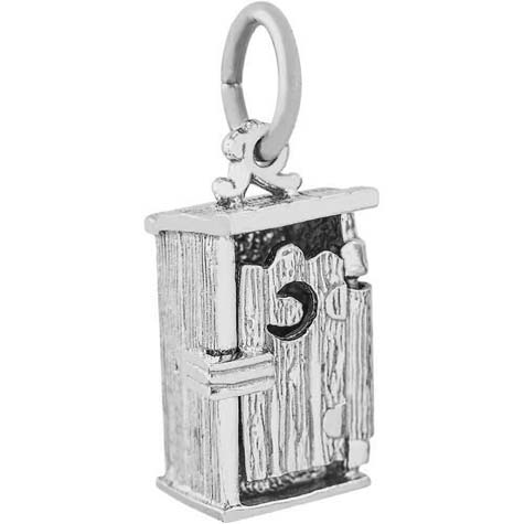 Sterling Silver Outhouse Charm by Rembrandt Charms