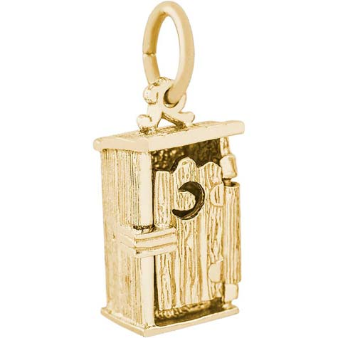 14K Gold Outhouse Charm by Rembrandt Charms