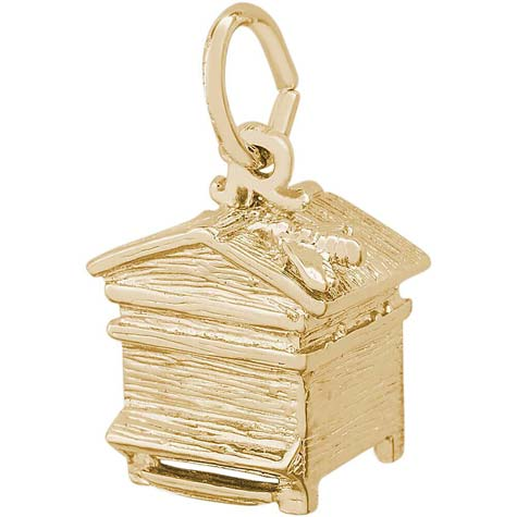 14K Gold Beehive Charm by Rembrandt Charms