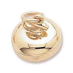 Gold Plated Curling Stone Charm by Rembrandt Charms