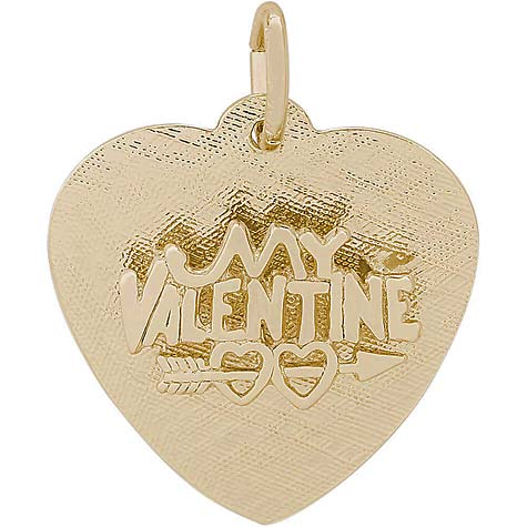 14K Gold My Valentine Heart Charm by Rembrandt Charms