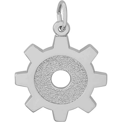 14K White Gold Engineer Tool Charm by Rembrandt Charms