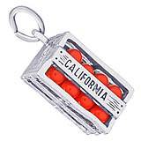 Sterling Silver California Oranges Charm by Rembrandt Charms