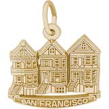 10K Gold San Francisco Victorian Houses by Rembrandt Charms