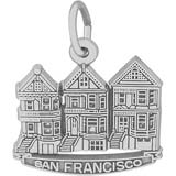 Sterling Silver San Francisco Victorian Houses by Rembrandt Charms