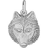Sterling Silver Wolf Head Charm by Rembrandt Charms
