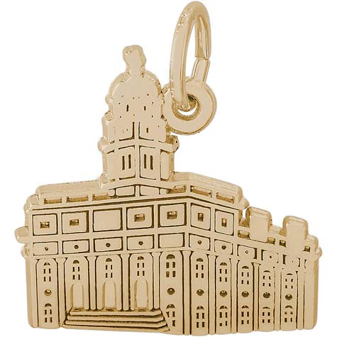 Gold Plated South Carolina Temple Charm by Rembrandt Charms
