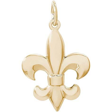 10k Gold Fleur De Lis Charm by Rembrandt Charms