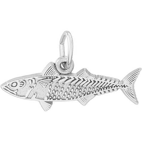 14K White Gold Mackerel Fish Charm by Rembrandt Charms