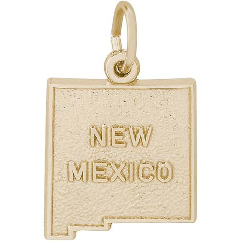 14K Gold New Mexico Charm by Rembrandt Charms