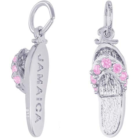 Sterling Silver Jamaica Sandal Charm by Rembrandt Charms