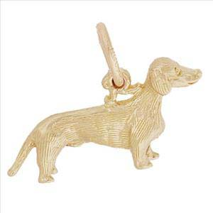 14K Gold Dachshund Dog Charm by Rembrandt Charms