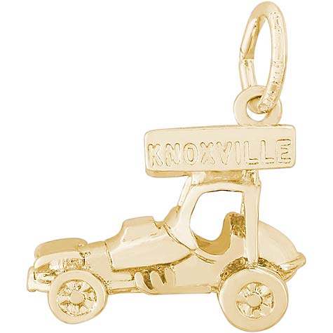 Gold Plated Knoxville Sprint Car Charm by Rembrandt Charms