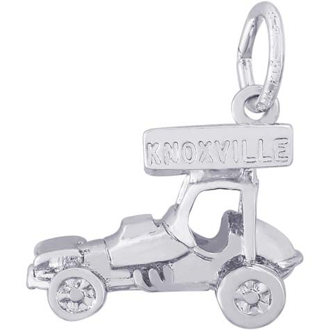 14K White Gold Knoxville Sprint Car Charm by Rembrandt Charms