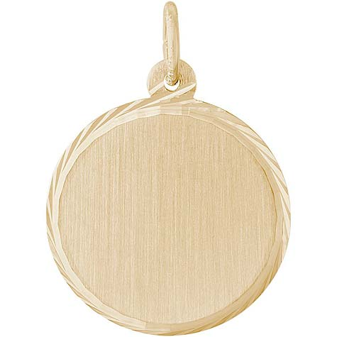 14K Gold Medium Faceted Disc Charm by Rembrandt Charms