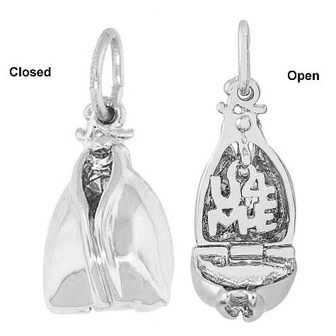 14K White Gold Fortune Cookie Charm by Rembrandt Charms