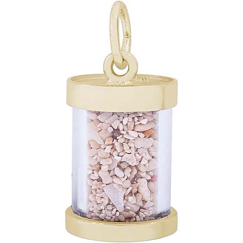 14K Gold Ocho Rios Jamaica Sand Capsule by Rembrandt Charms