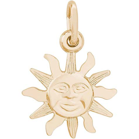 14K Gold Small Belize Sunshine Charm by Rembrandt Charms