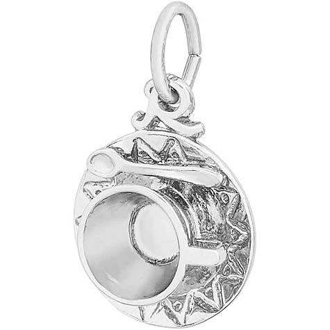 14K White Gold Cup and Saucer Charm by Rembrandt Charms
