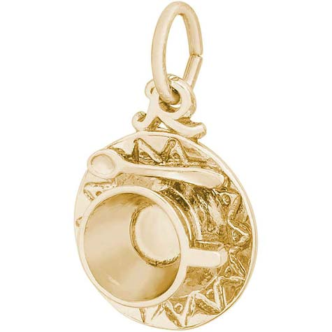 14K Gold Cup and Saucer Charm by Rembrandt Charms