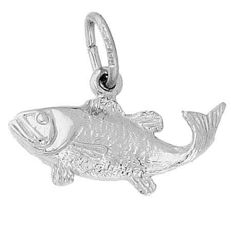 Sterling Silver Bass Fish Charm by Rembrandt Charms