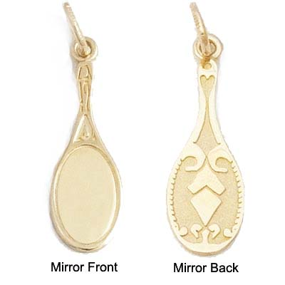 14K Gold Mirror Charm by Rembrandt Charms