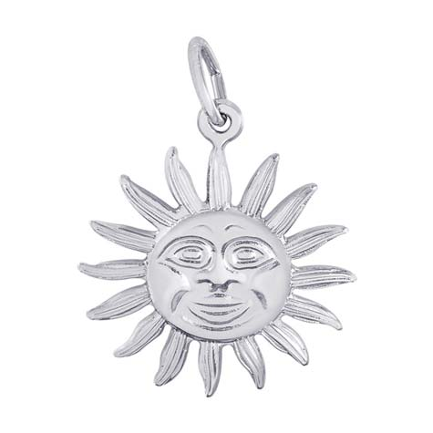 14K White Gold Small Dominica Sunshine Charm by Rembrandt Charms