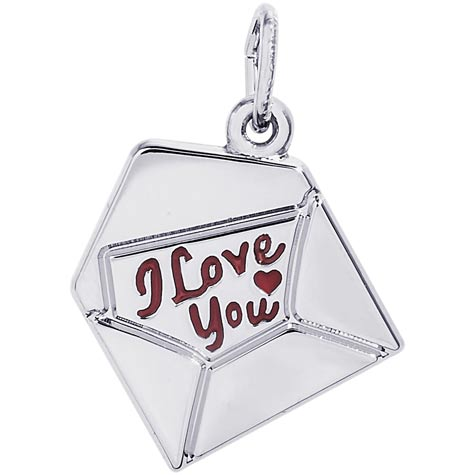 Sterling Silver Love Letter Charm by Rembrandt Charms