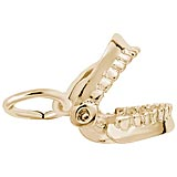 10K Gold False Teeth Charm by Rembrandt Charms