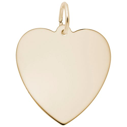 Gold Plated Medium Classic Heart Charm by Rembrandt Charms