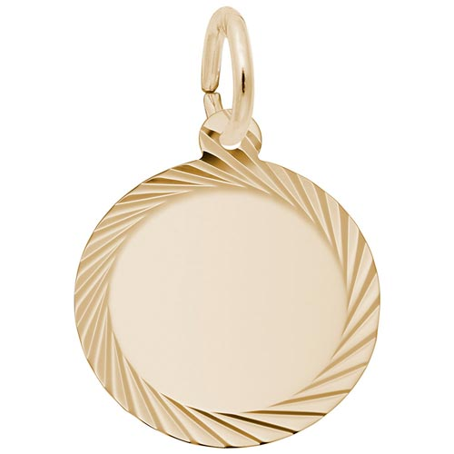 14K Gold Diamond Faceted Disc Charm by Rembrandt Charms