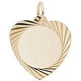 14K Gold Medium Faceted Heart Charm by Rembrandt Charms