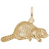 Rembrandt Beaver Charm, Gold Plate