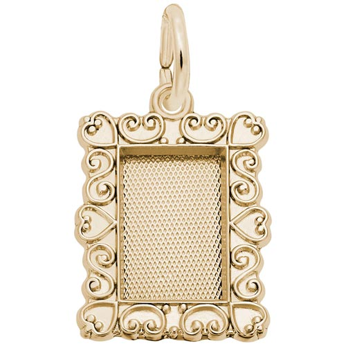 10K Gold Scroll Pitcher Frame Charm by Rembrandt Charms
