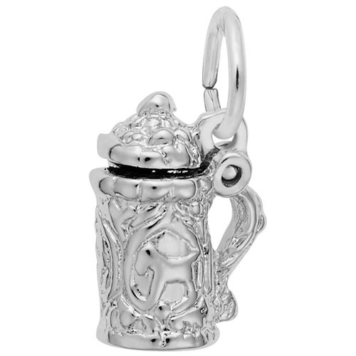 Sterling Silver Beer Stein Accent Charm by Rembrandt Charms