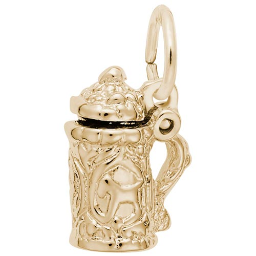 14k Gold Beer Stein Accent Charm by Rembrandt Charms