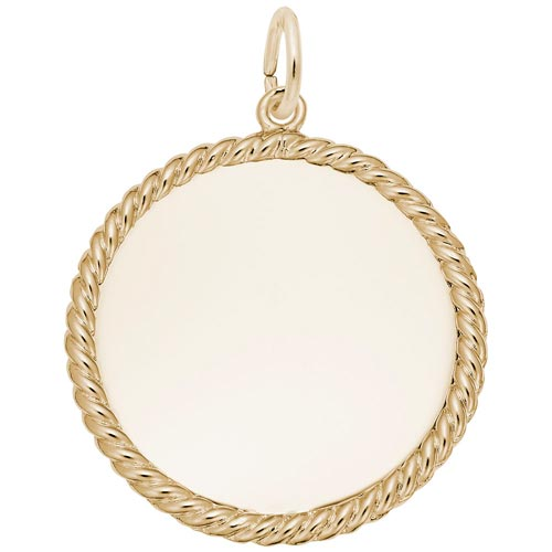 14K Gold Medium Rope Disc Charm by Rembrandt Charms