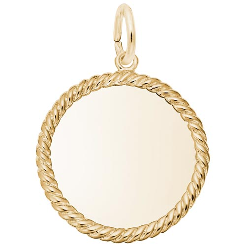 14K Gold Rope Disc Charm by Rembrandt Charms