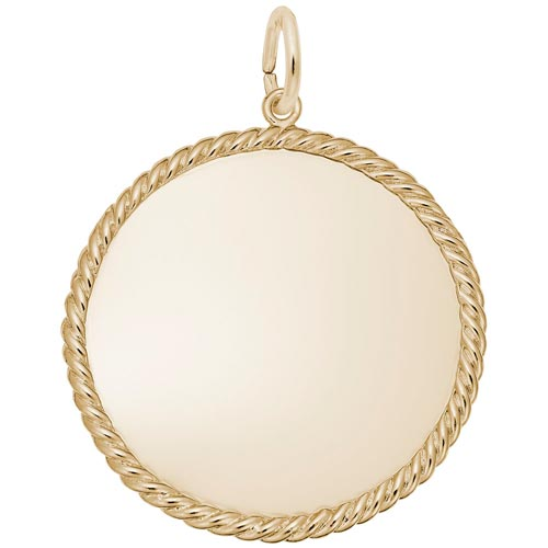 14k Gold Extra Large Rope Disc Charm by Rembrandt Charms