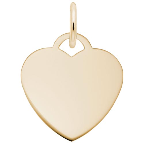 Gold Plated Small Classic Heart Charm by Rembrandt Charms