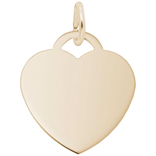 14K Gold Medium Heart Charm Series 35 by Rembrandt Charms