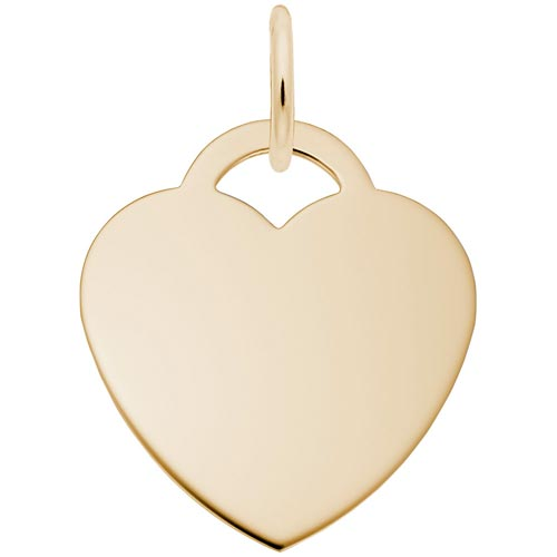 14k Gold Large Classic Heart Charm by Rembrandt Charms