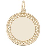 Gold Plated Filigree Disc Charm by Rembrandt Charms