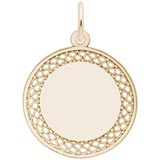 Gold Plated Medium Filigree Disc Charm by Rembrandt Charms