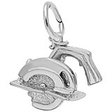 14K White Gold Electric Saw Charm by Rembrandt Charms