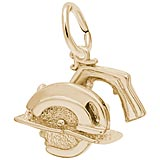 Gold Plate Electric Saw Charm by Rembrandt Charms
